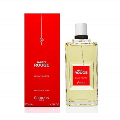 Habit Rouge by Guerlain Cologne Sample for Men