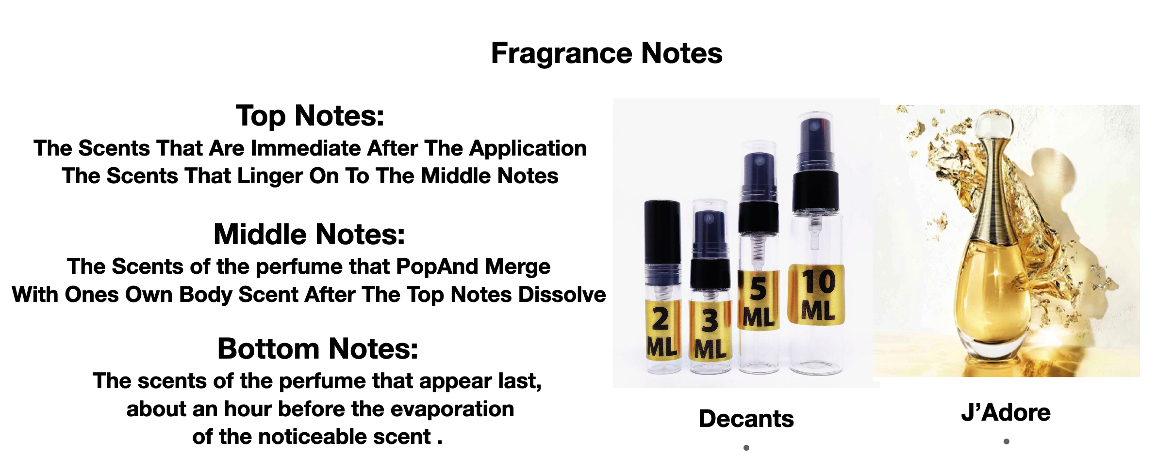 Perfume Samples Fragrane Notes
